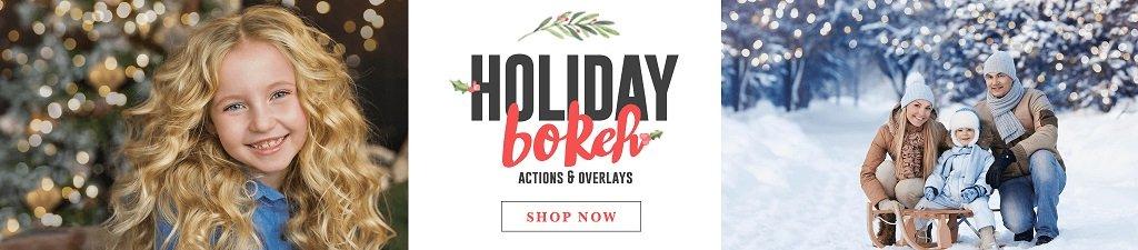 Superposiciones de bokeh navideñas