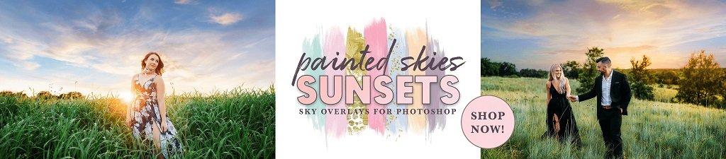 Superposiciones de cielo pintado