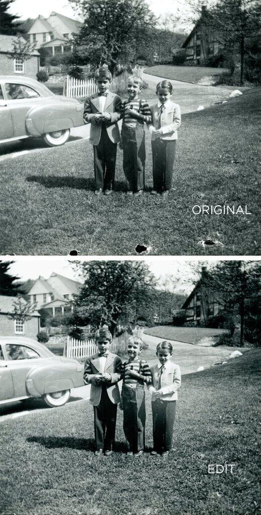 Restauración de fotos Photoshop