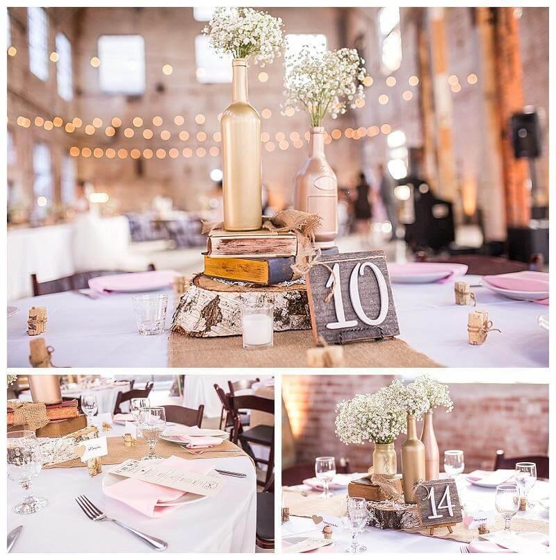 fotos de decoración de mesa de boda
