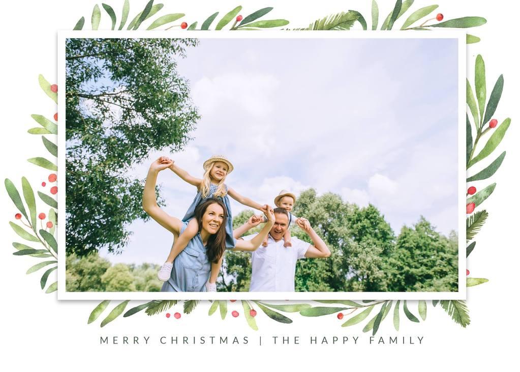 Plantillas gratuitas de tarjetas de Navidad con fotos