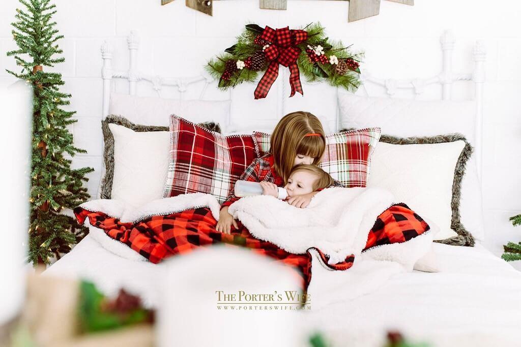 Ideas de fotos familiares de Navidad