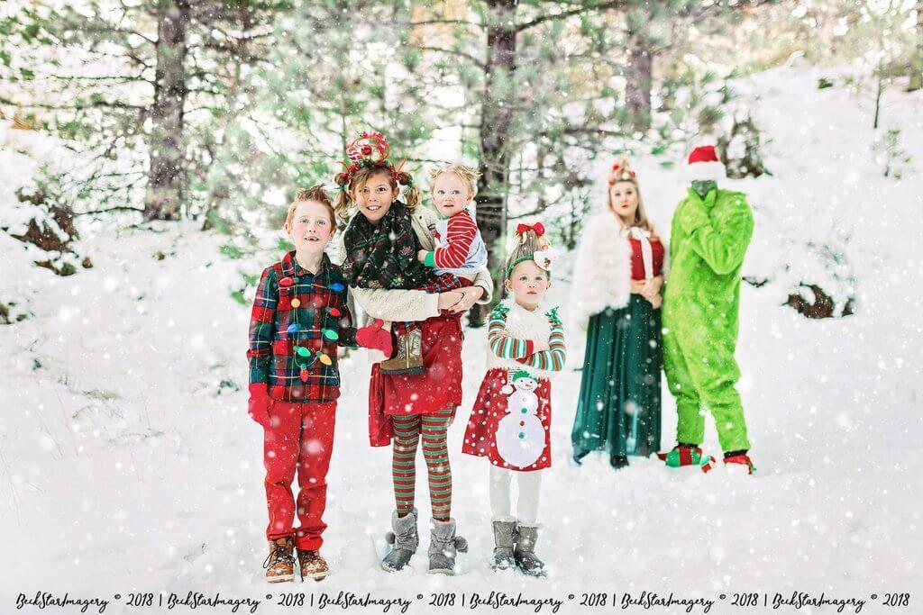 Ideas de trajes de fotos de Navidad