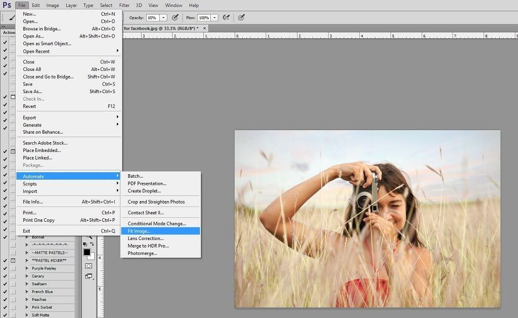 Cambiar el tamaño de las imágenes en Photoshop