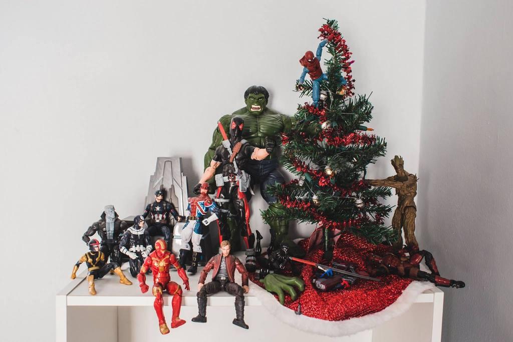 Foto de árbol de Navidad de superhéroe