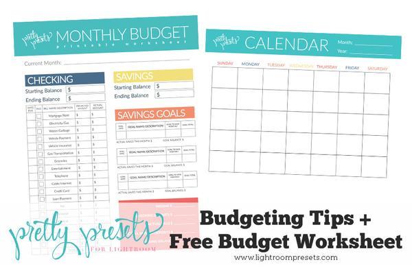 Hoja de trabajo de presupuesto y consejos de elaboración de presupuestos (descarga gratuita)