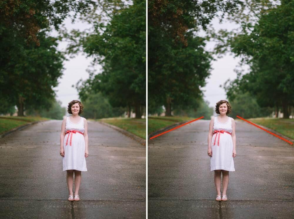 Crear simetría usando líneas principales en fotografía