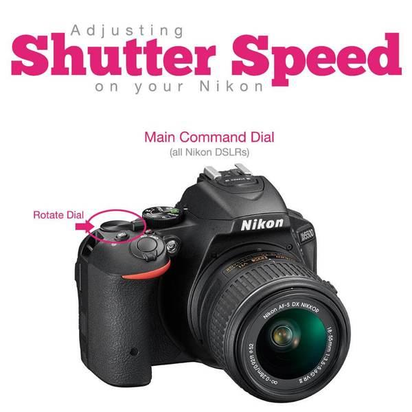 Cómo cambiar la velocidad de obturación en Nikon
