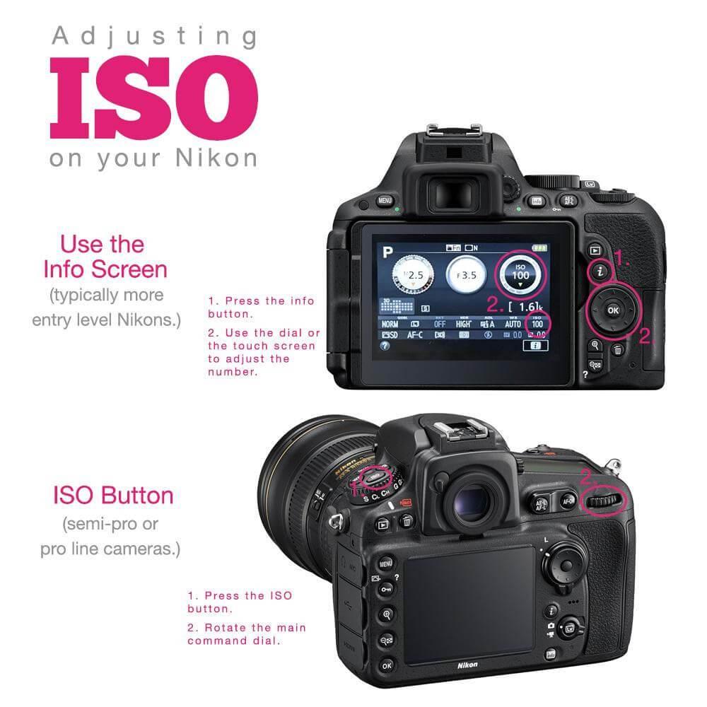 Ajuste de cámara ISO Nikon