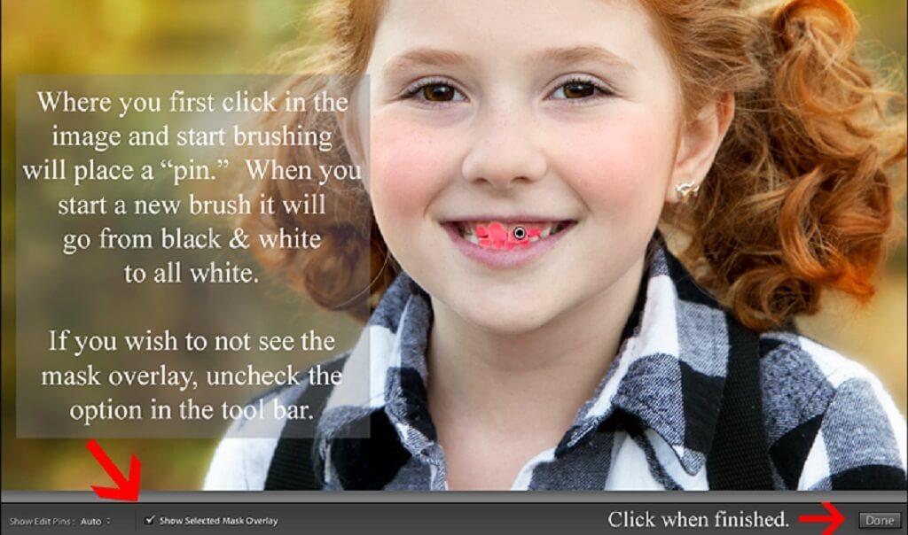 Blanqueamiento de dientes en Lightroom