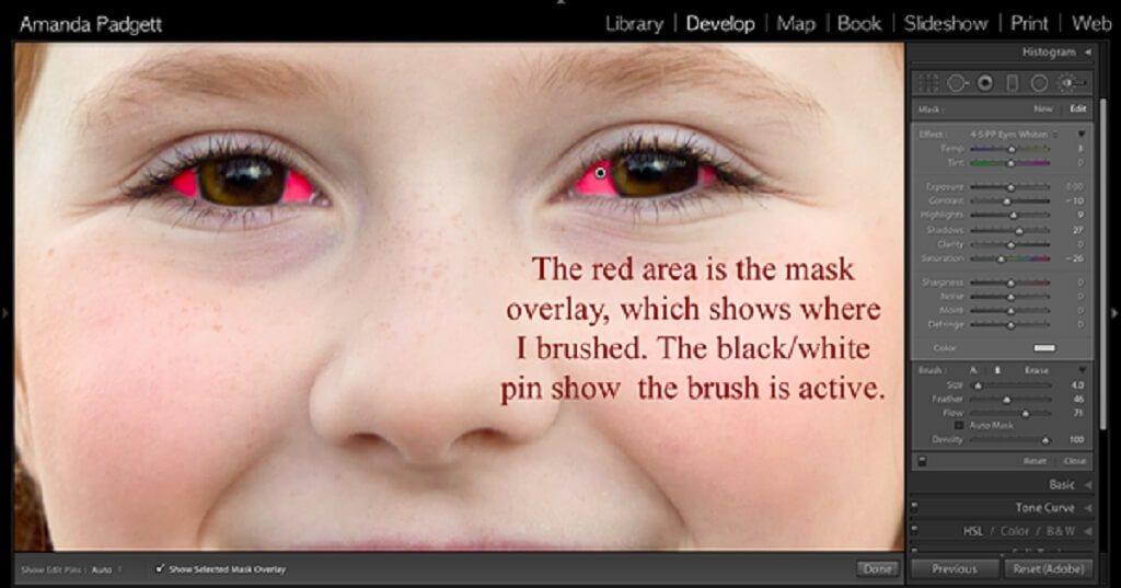 Cómo blanquear los ojos Lightroom