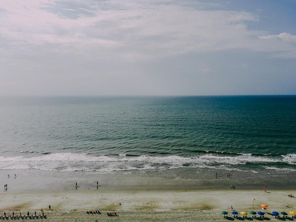 Uso de presets de Lightroom en una foto de iPhone en la playa