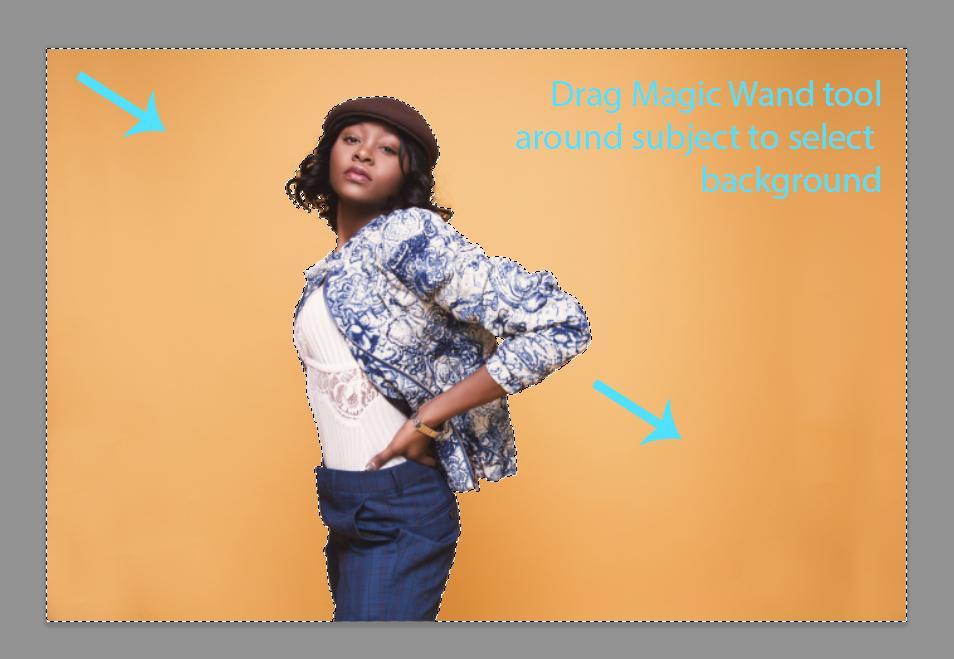 cómo cambiar el color de fondo en photoshop
