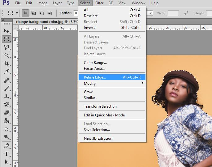 cómo agregar color de fondo en photoshop