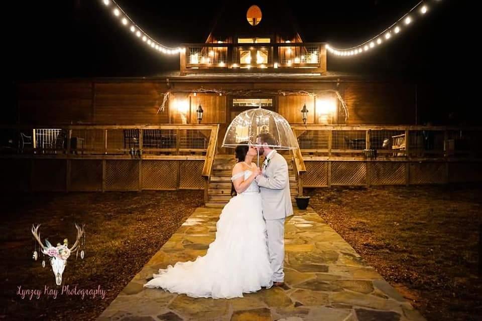 Foto de boda nocturna