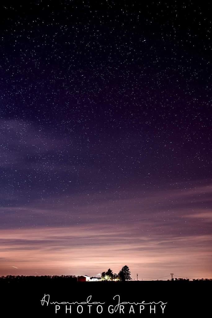 Hermoso cielo estrellado foto de la noche