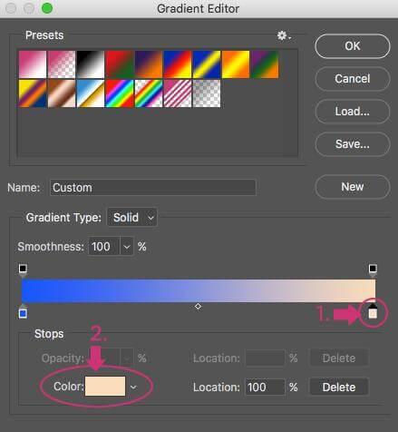 Mapa de degradado de color Photoshop