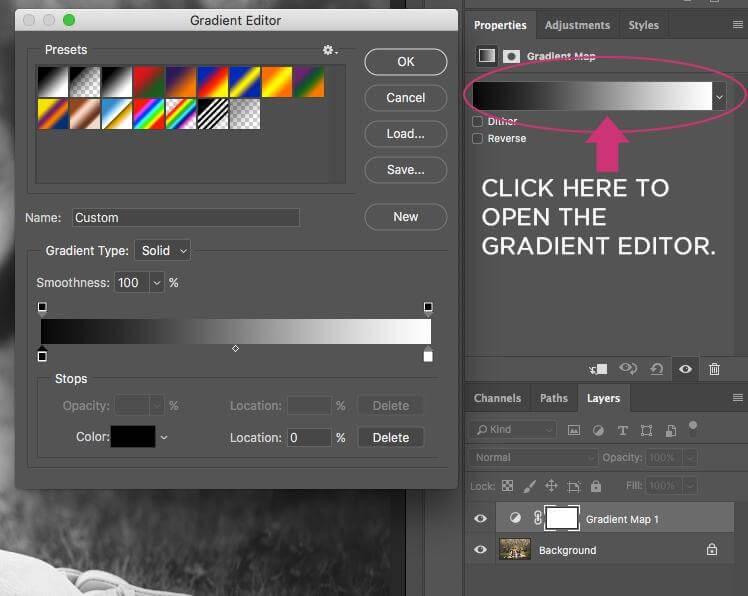 Photoshop editor de degradado