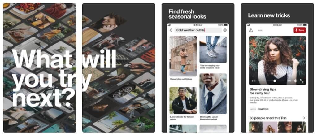 Usar Pinterest como una aplicación para posar