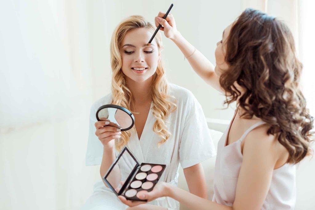 maquillaje y sesión de fotos