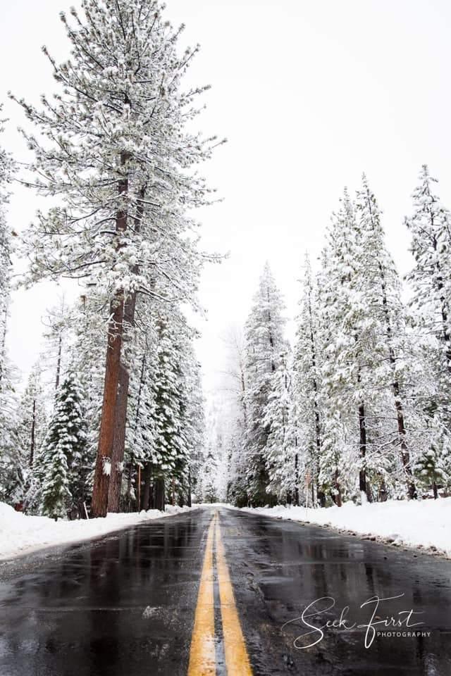 Mejores fotos de 2019: hermoso día nevado y carretera