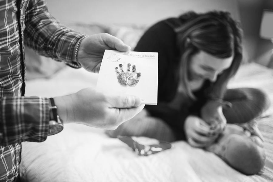 En el hogar Fotografía de recién nacidos de estilo de vida