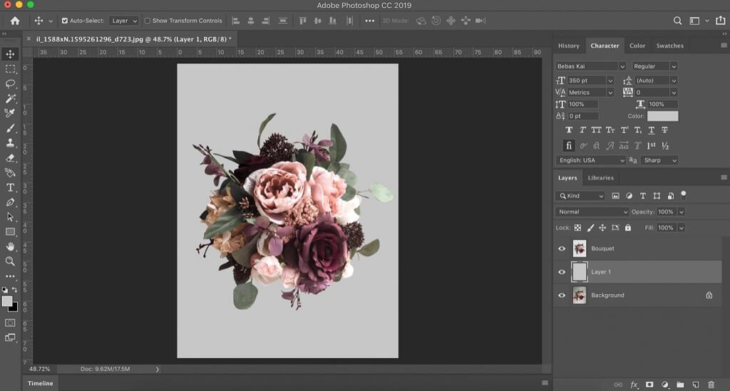 cómo entrelazar letras en photoshop