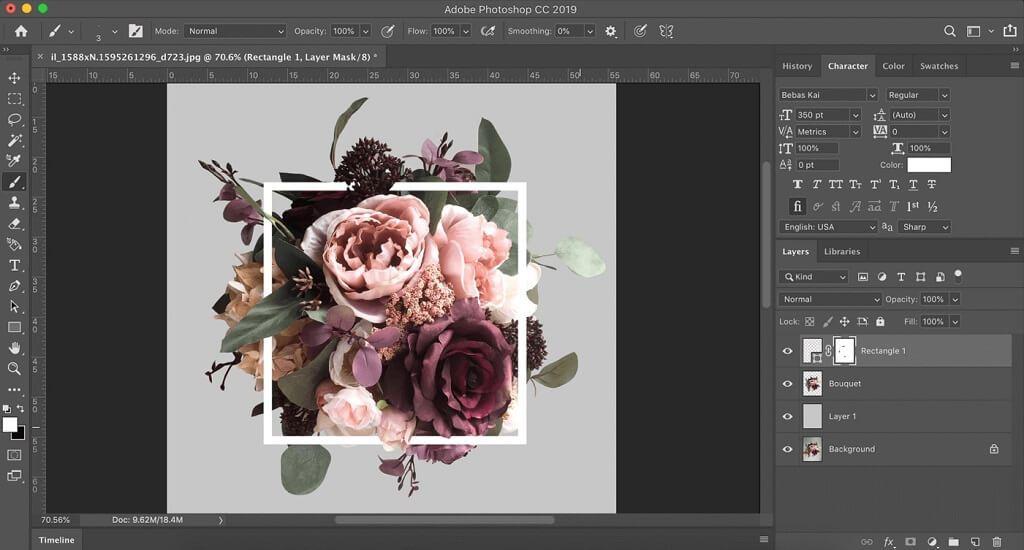 tutorial de photoshop floral
