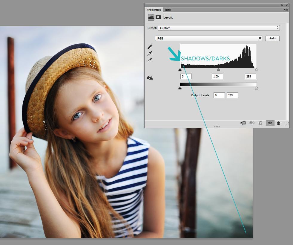 usando histograma en photoshop