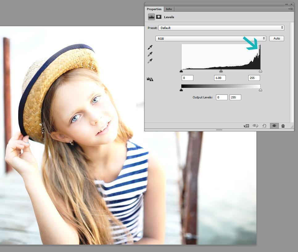 ¿Cómo veo el histograma en Photoshop?