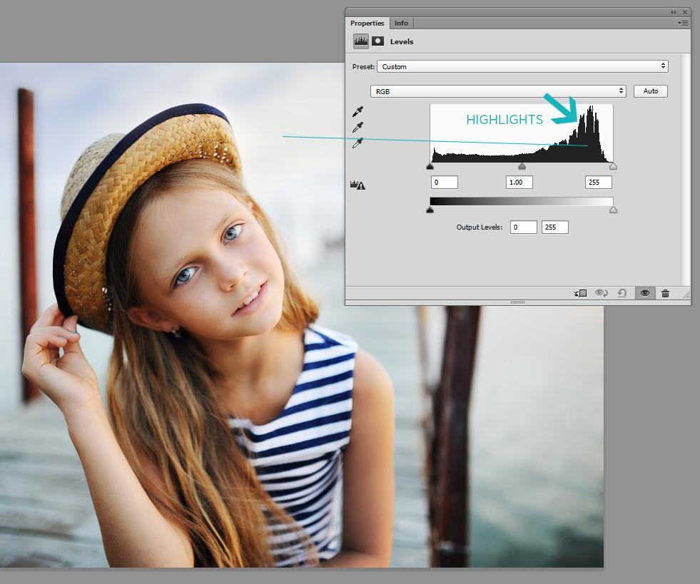 histograma de photoshop explicado