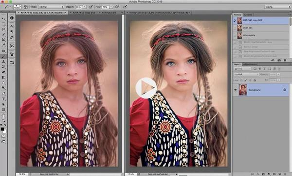 Cómo utilizar las acciones de Photoshop (vídeo de formación)