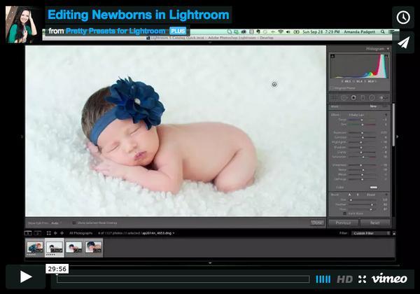 Edición de recién nacidos y administración de archivos en Lightroom