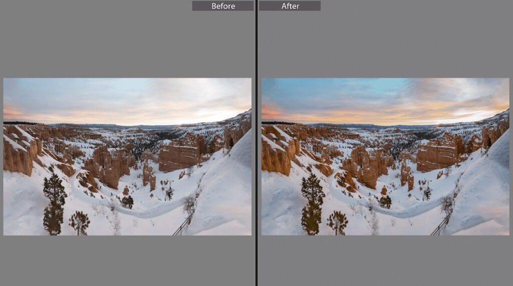 Cómo editar fotos del atardecer en Lightroom Mobile