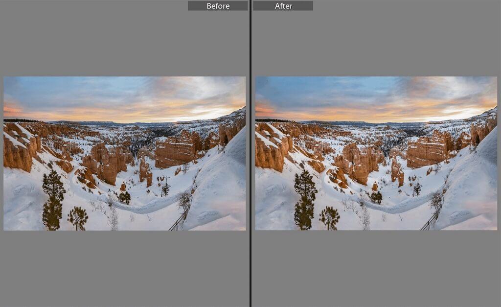 Edición de fotografías de puesta de sol en Lightroom