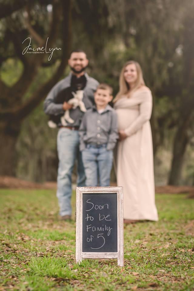 Foto de familia de enfoque suave