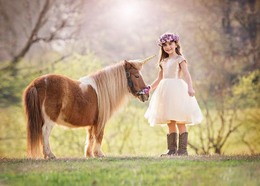 Fotografiando niños con unicornios