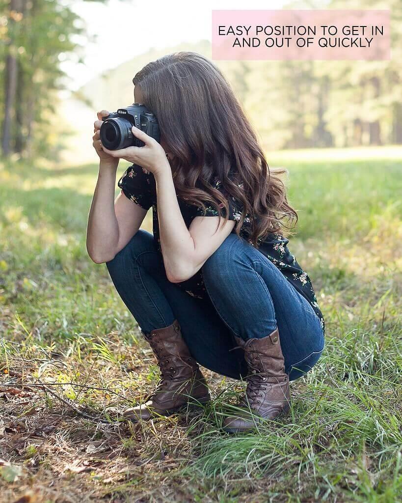 cómo sostener una cámara correctamente