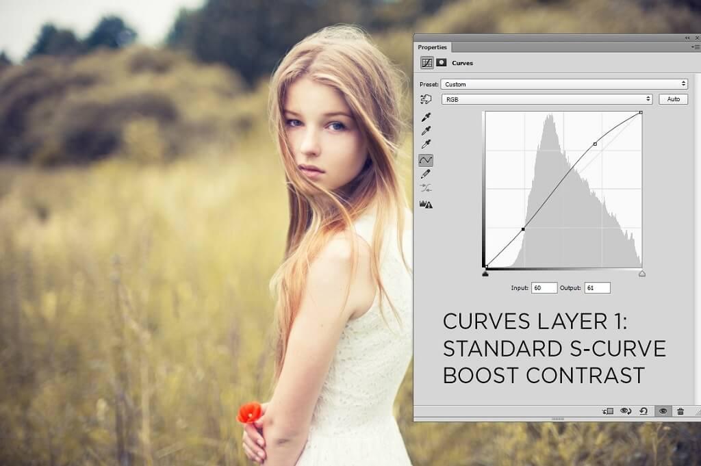 Usar curvas en Photoshop
