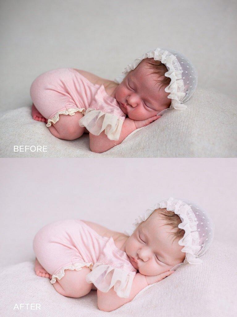 Cómo editar fotos de recién nacidos en Lightroom