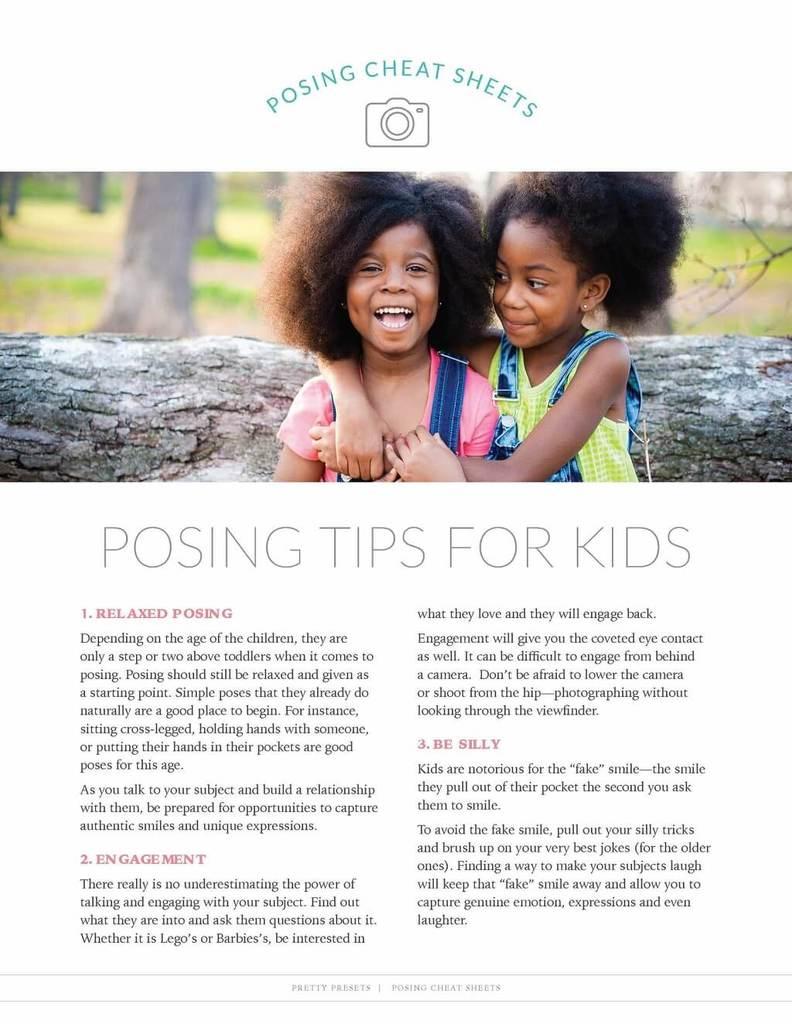 Guía de poses para niños
