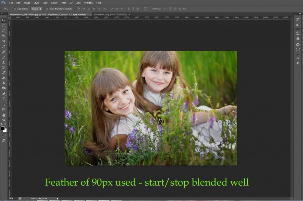 Herramienta de marco elíptico en Photoshop