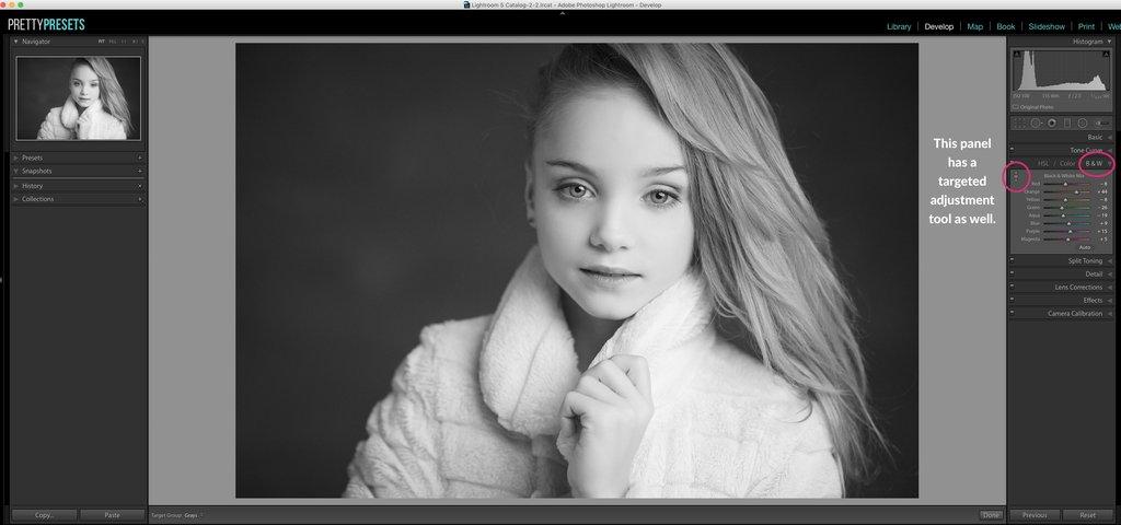 Edición de fotografías en blanco y negro en Lightroom