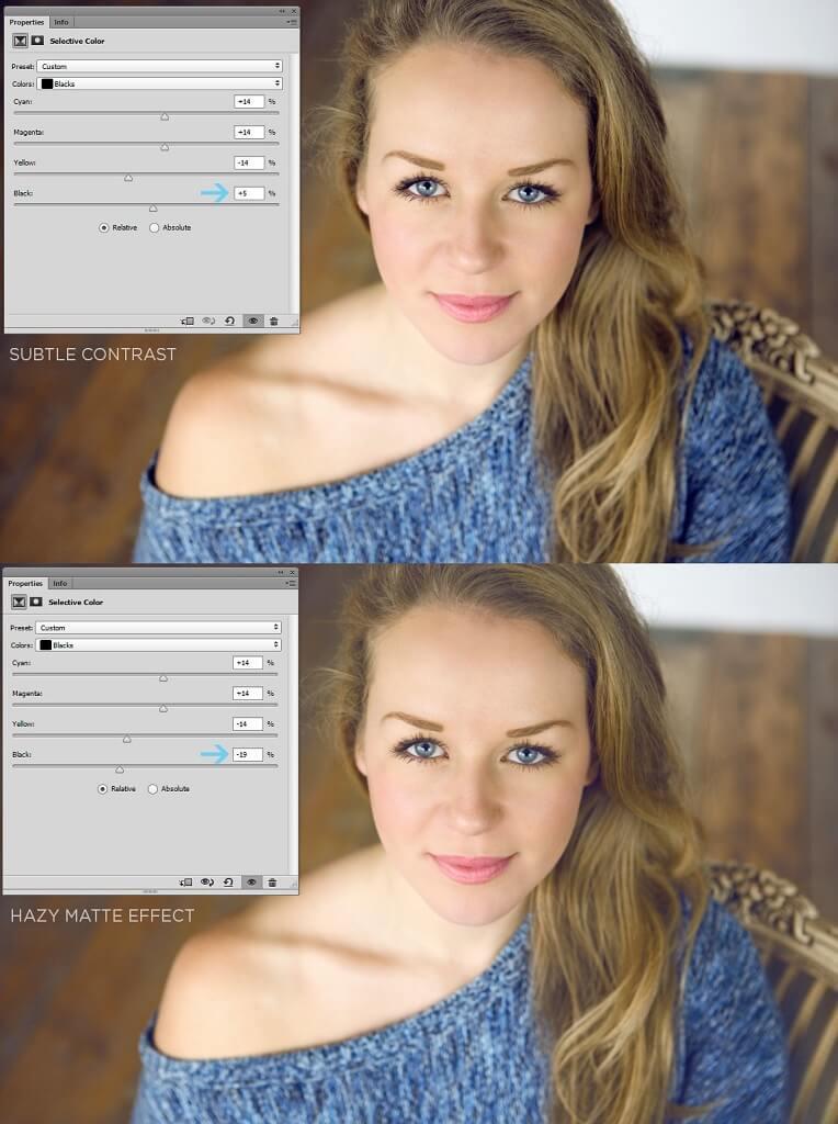 Presets de color selectivo Photoshop