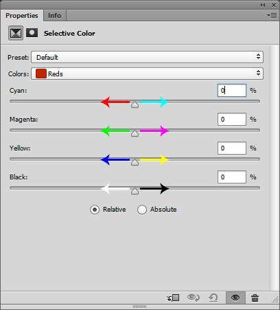 Herramienta de color selectivo de Photoshop