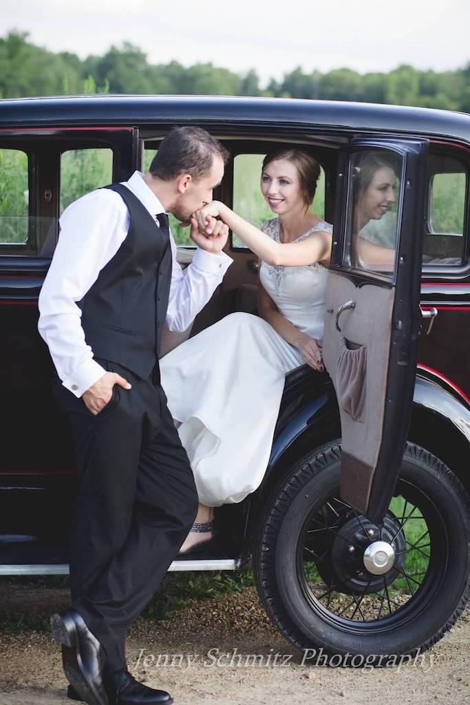 Foto de boda con los novios