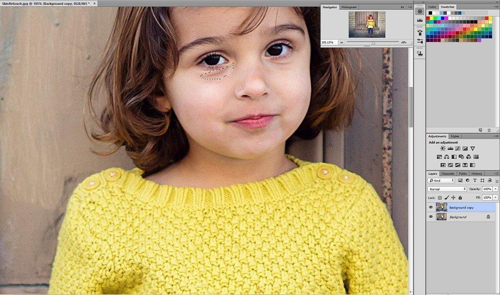 Uso de la herramienta Patch en Photoshop