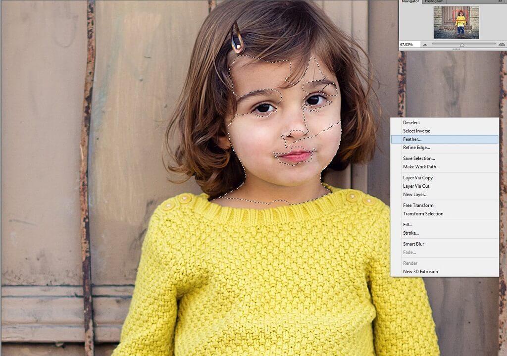 Filtro de desenfoque inteligente Photoshop