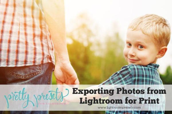 Exportación de fotografías desde Lightroom para imprimir