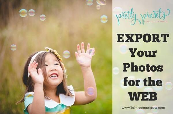 Exportación de sus fotos para la WEB